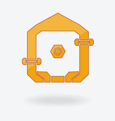 Abstract home logo design vector