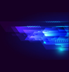 Abstract technology futuristic design blue vector