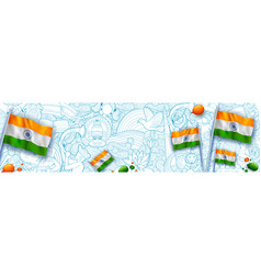 abstract tricolor banner with indian flag for 26th vector image