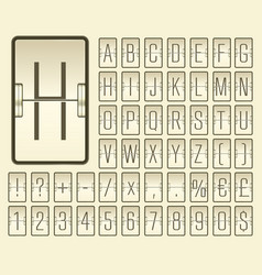 Airport terminal mechanical scoreboard narrow vector