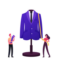 Apparel or fashion designer characters projecting vector