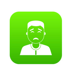 asian man icon digital green vector image
