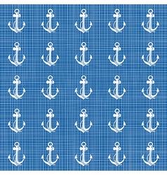 Blue nautical pattern vector