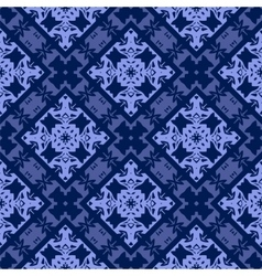 Blue Ornamental Seamless Line Pattern vector