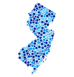 blue spot new jersey state map composition vector image