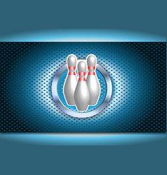 bowling poster vector image