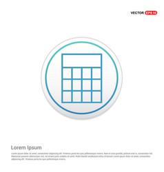 calculator icon - white circle button vector image