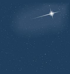 christmas star on sky snowfall eps 10 il vector image