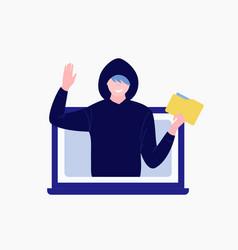 Computer hacker character vector