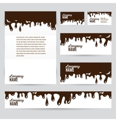 Corporate identity business chocolate set design vector
