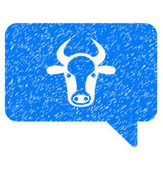 Cow message icon grunge watermark vector