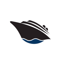 cruise ship logo icon vector image
