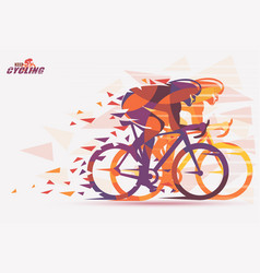 Cycling race stylized background with motion vector
