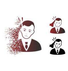 Dolor dispersed pixel halftone kickboxer victim vector