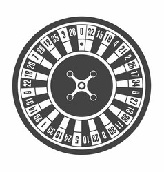 European roulette wheel in monochrome black top vector