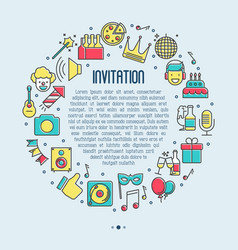 Event invitation concept birthday party vector