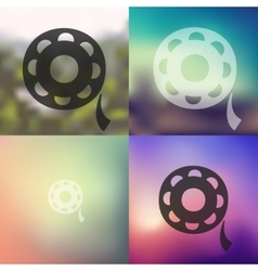 Film icon on blurred background vector