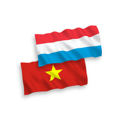flags vietnam and luxembourg on a white vector image