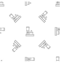 Food processor pattern seamless vector
