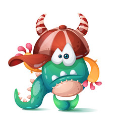 funny cute crazy monster characters vector image