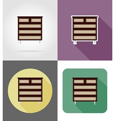 furniture flat icons 29 vector image