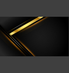 Geometric dark background with golden lines shapes vector
