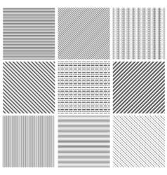 Geometric line pattern set parallel streep black vector