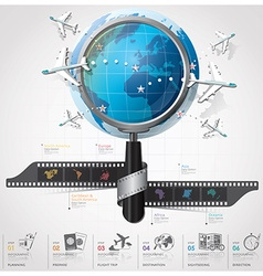 Global Travel And Journey Infographic With vector