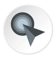 Grey arrow cursor icon flat style vector