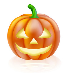 Halloween lantern pumpkin vector