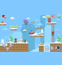 Ice ventura game assets vector