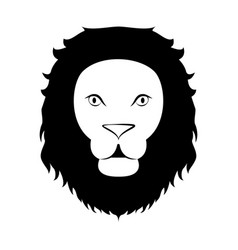isolated silhouette of a lion vector image