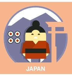 Japanese man vector