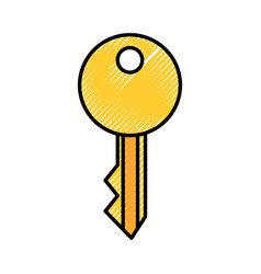 key security isolated icon vector image