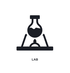 lab isolated icon simple element from science vector image