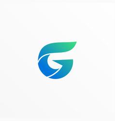 Letter g line art design template vector