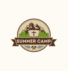 Logo christian camp vector