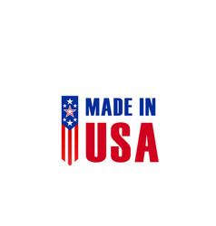 made in usa american flag star icon vector image