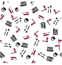makeup artist pattern vector image