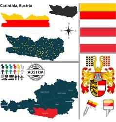 Map carinthia small vector