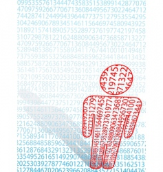 maths man symbol vector image