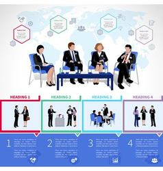 Meeting People Infographics Set vector image