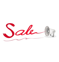 Megaphone Shouting Word Sale on White Background vector image