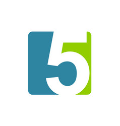 modern logo number 5 vector image