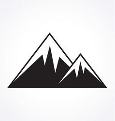 mountains logo stylized vector image