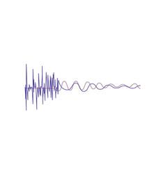 music sound waves audio digital equalizer vector image