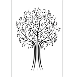 Music tree vector