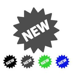 New sticker flat icon vector