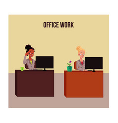 office life poster banner with white and black vector image