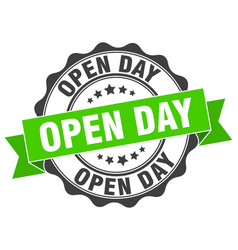 open day stamp sign seal vector image